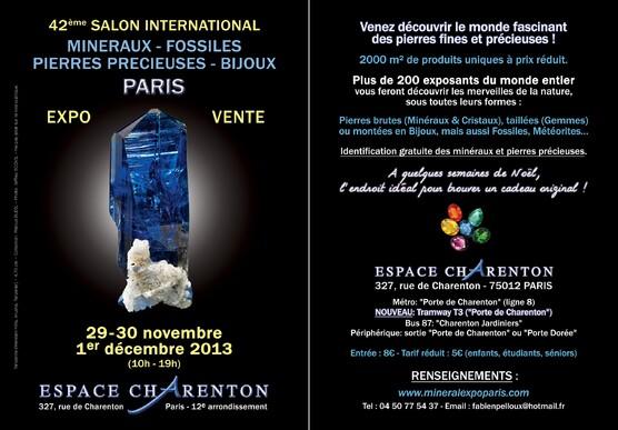 42e Salon International Minéral Expo Paris 2013