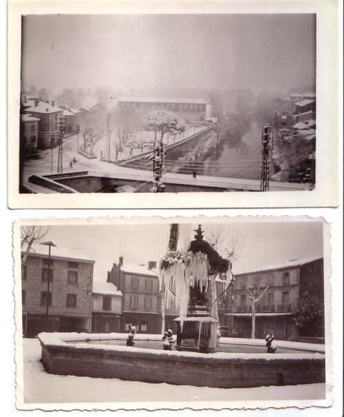 Graulhet sous la neige....anciennes photos inédites !