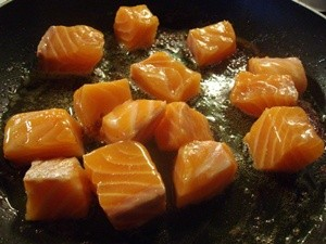 dés de saumon