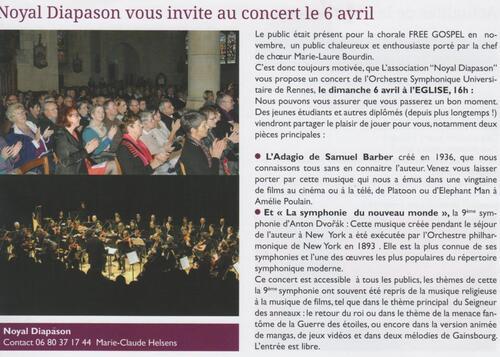 06/04/2014 : Concert Orch. Symphonique Universitaire de Rennes