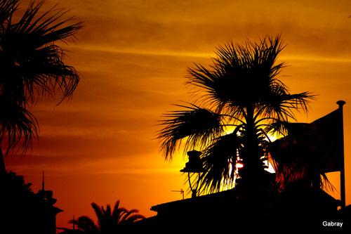 Le Barcarès: coucher du soleil ...