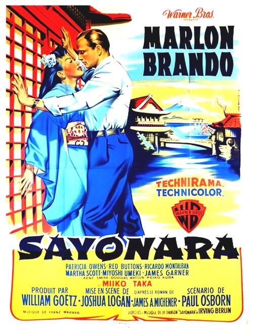 SAYONARA - BOX OFFICE MARLON BRANDO 1958