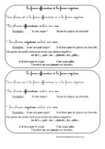 La forme négative (leçon ce1)