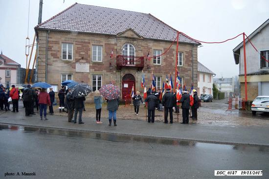 * Cérémonie du 73 anniversaire de la Libération de Champagney - Hommage au général Brosset