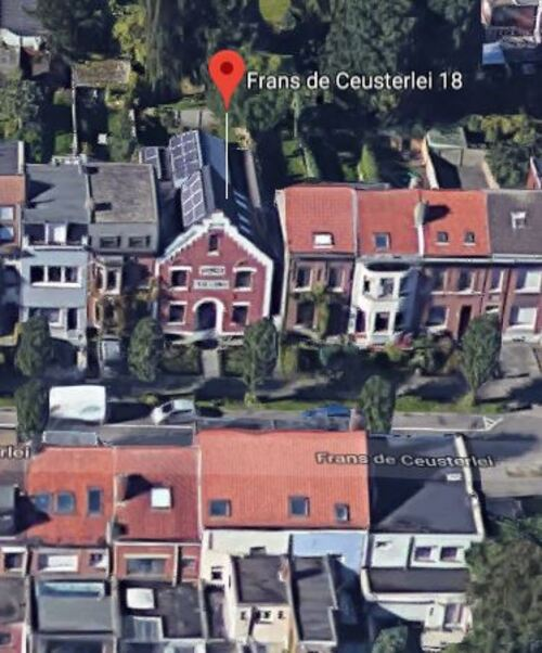 Schoten - Frans de Ceusterlei 18 (Google Satellite - Vue 3D)