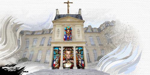essin de JERC du vendredi 13 Avril 2018 caricature Emmanuel Macron parce que c'est notre diocèse www.facebook.com/jercdessin @dessingraffjerc