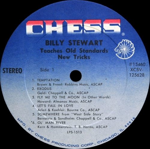"Billy Stewart : Album "" Teaches Old Standards New Tricks "" Chess Records LPS 1513 [ US ]"