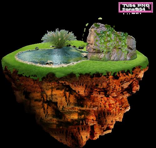 Tubes Îles flottantes nature