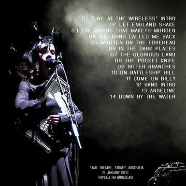 En v'là du live Semaine 2 suite...PJ Harvey - Sydney - 19 janvier 2012 FM