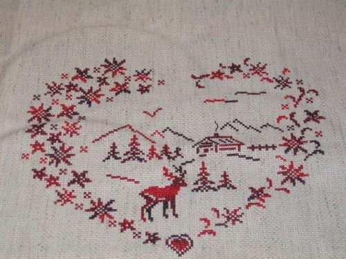 Mes petites croix...Coeur Montagne de Bleu de Soie