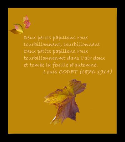 Petit poème d'automne