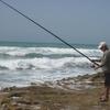 Sahara Occidental  Oued Lakraa Papy à la pêche