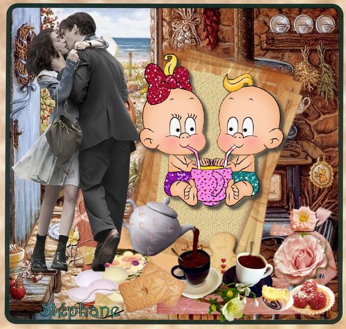 Amor Amour my love défi chez gentille rebelle , pour Manik ,& Cerise déco