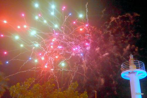 Barcarès: feu d'artifice
