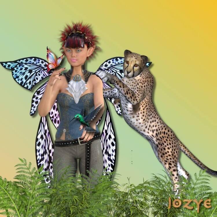 L'elfe et le léopard