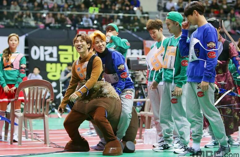 18/01/2016 MBC Idol Star Athletics Championship BTS Partie 1