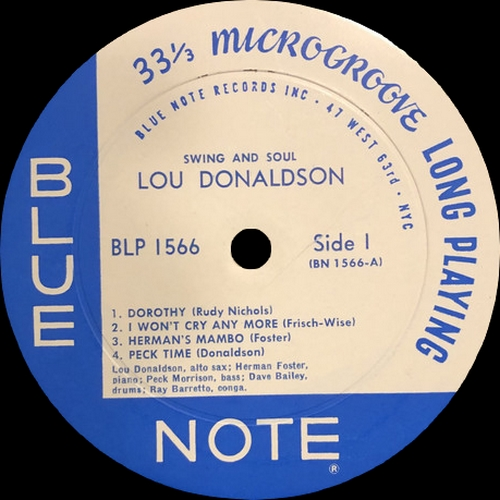"Lou Donaldson Quintet : Album "" Swing And Soul "" Blue Note Records BLP 1566 [ US ]"
