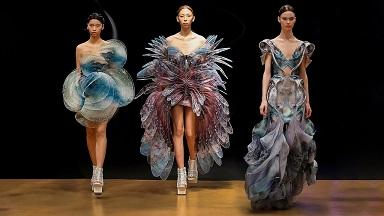 Haute couture dans du recyclé ...
