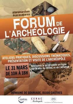 Forum de l'archéologie, CERAC Castres 31 mars