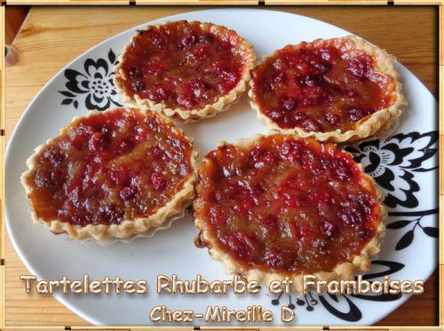 Tartelette Rhubarbe et Framboises