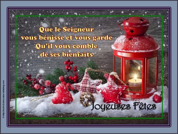 Joyeuses Fêtes / Meilleurs voeux - Que le Seigneur vous bénisse