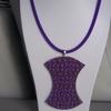 collier chocolat violet 10euros