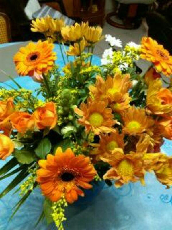 Bouquet orangé