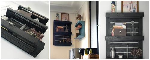 Transformer une petite palette en étagère - DIY
