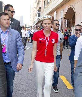 Charlène au grand prix de Monaco