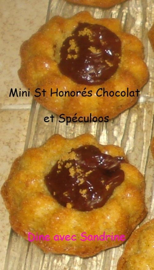 Des Mini Saint-Honorés Chocolat Spéculoos
