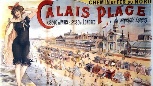 Des affiches publicitaires pour mettre en valeur la plage de Calais