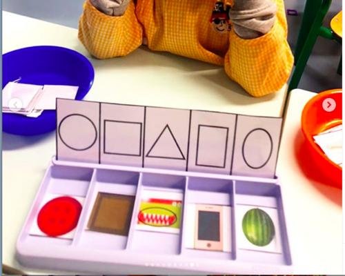 Boîte à compter : tri de formes