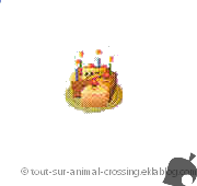 gateau d'anniv - animal crossing DS