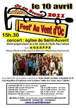 Fest' Au Vent d'Oc 2011 - St Auvent