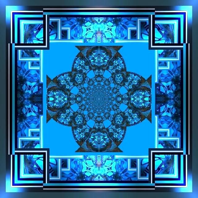 Mandala bleu 2 Marc de Metz 2012