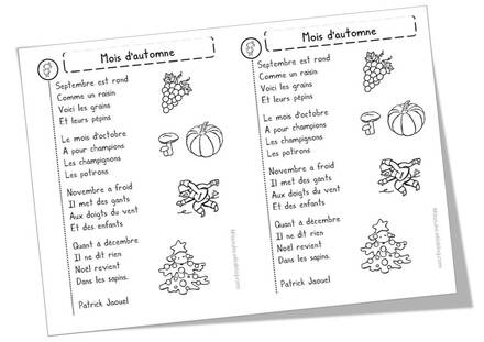 Poèmes automne