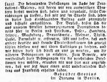 Anzeige der Gebrüder Gropius, die Aufträge suchen