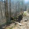 Bifurcation où on quitte la piste Peyrenère-Sansanet