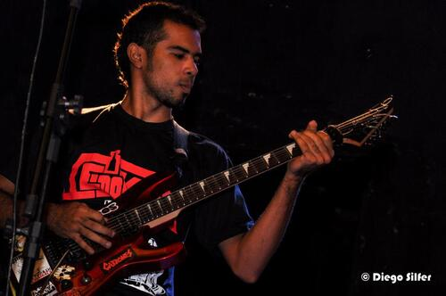 Guitarist Edson plays some furious riffs