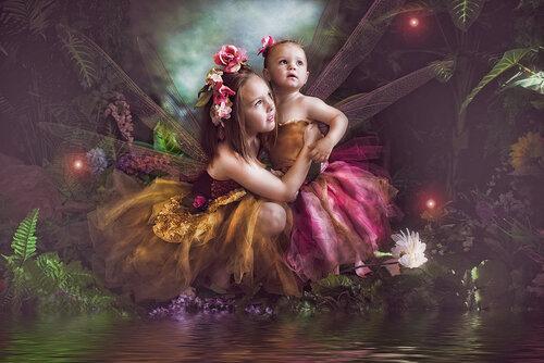 Fantasy kids butterflies