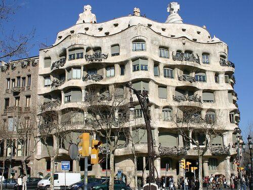Patrimoine mondial de l'Unesco : le Parc Güell, le Palau Güell et la Casa Milà à Barcelone.