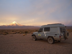 Couché de soleil sur le volcan S
