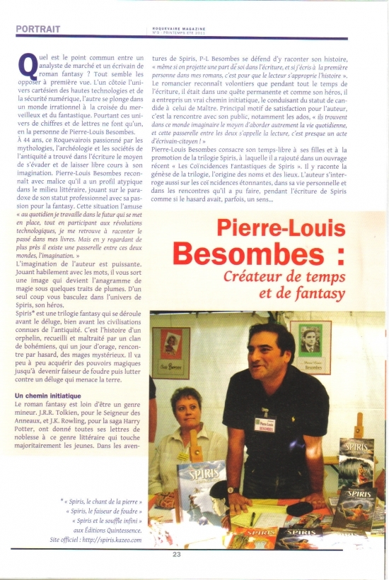 article roquevaire magazine 2011