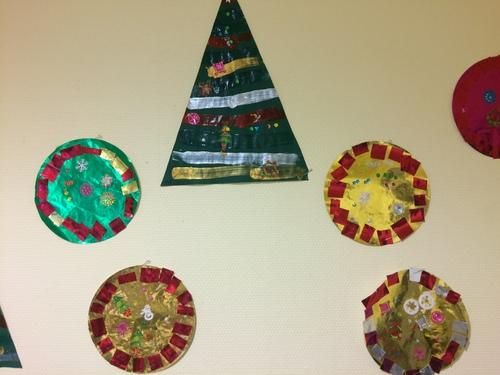 Décorations de l'école pour Noël