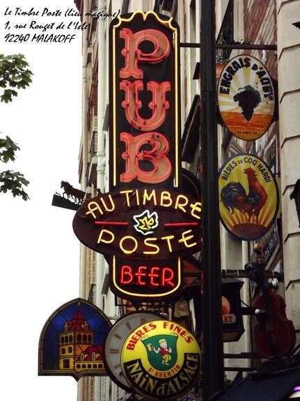 LE TIMBRE POSTE -CURIEUX PUB-