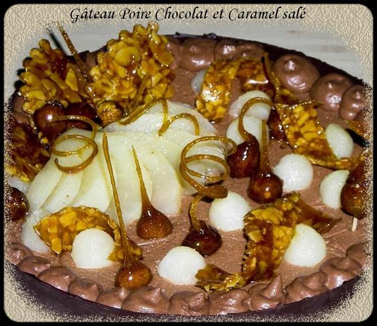 Recette de cuisine : Gâteau Poire Chocolat et Caramel salé