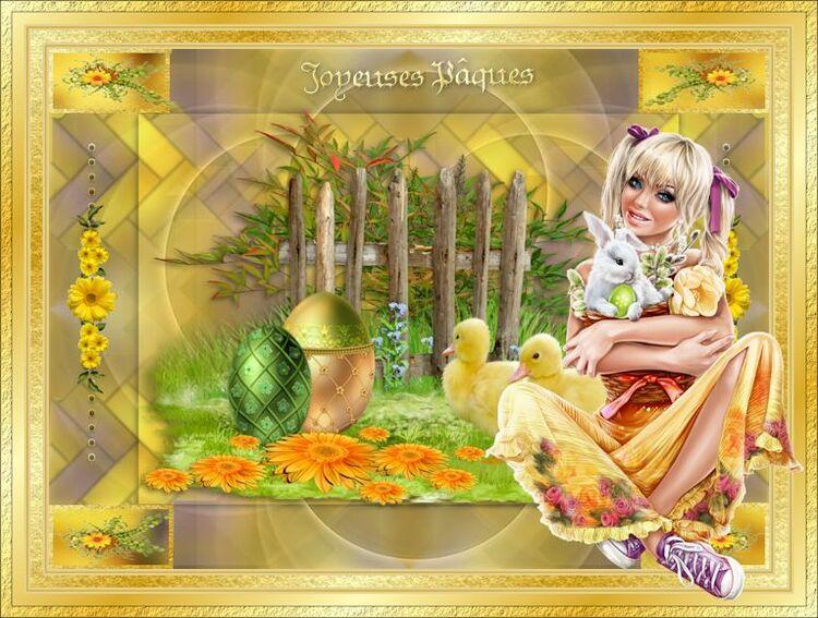Journée de Pâques   de douceur de Cloclo