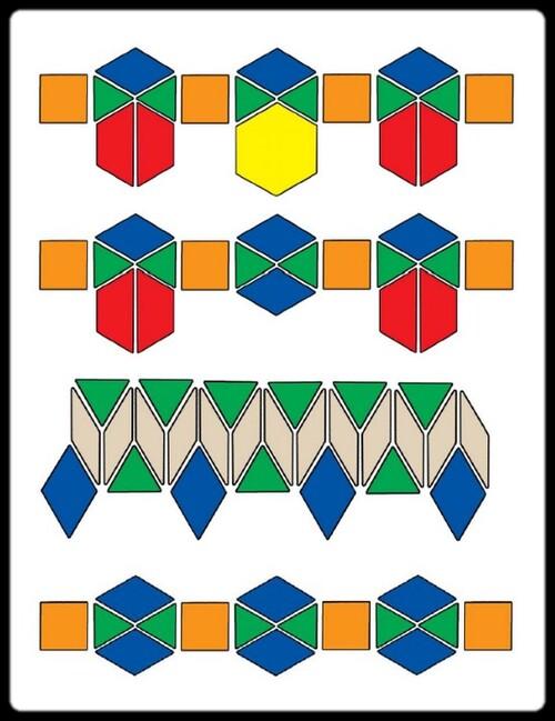 Des algorithmes avec  les mosaïques attrimaths