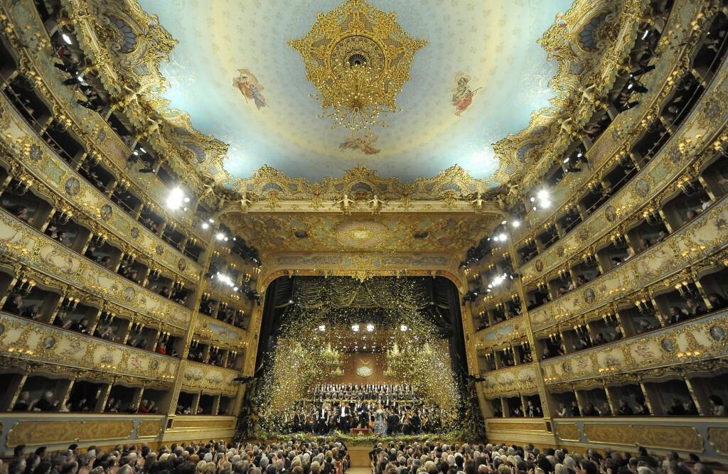 Salle du gran teatro de La Fenice