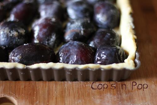 Tarte ou Tartelettes de prunes au nougat